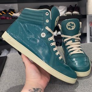 🩱GUCCI LIMITED EDITION GREEN MONOGRAM SNEAKER🩱